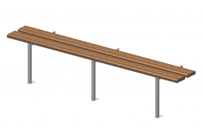 banc-simple-exotique-support-galvanise-ral-blanc