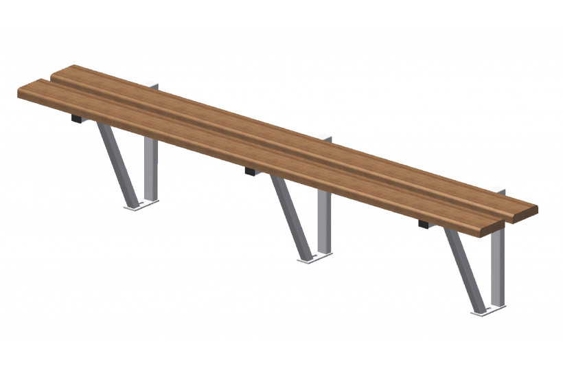 banc-mural-exotique-support-galvanise-ral-blanc