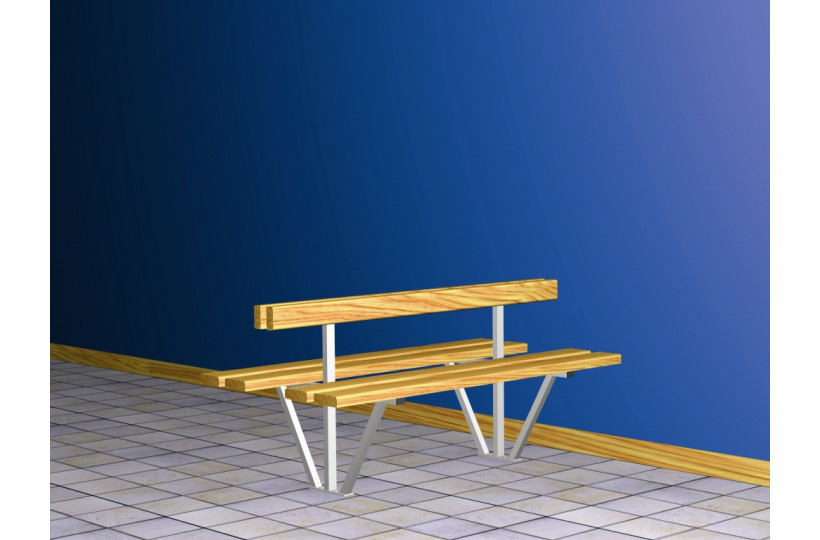 banquette-centrale-double-sapin-support-galvanise-ral-blanc