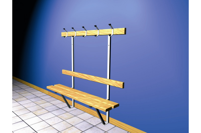 banc-mural-sapin-support-galvanise-ral-blanc